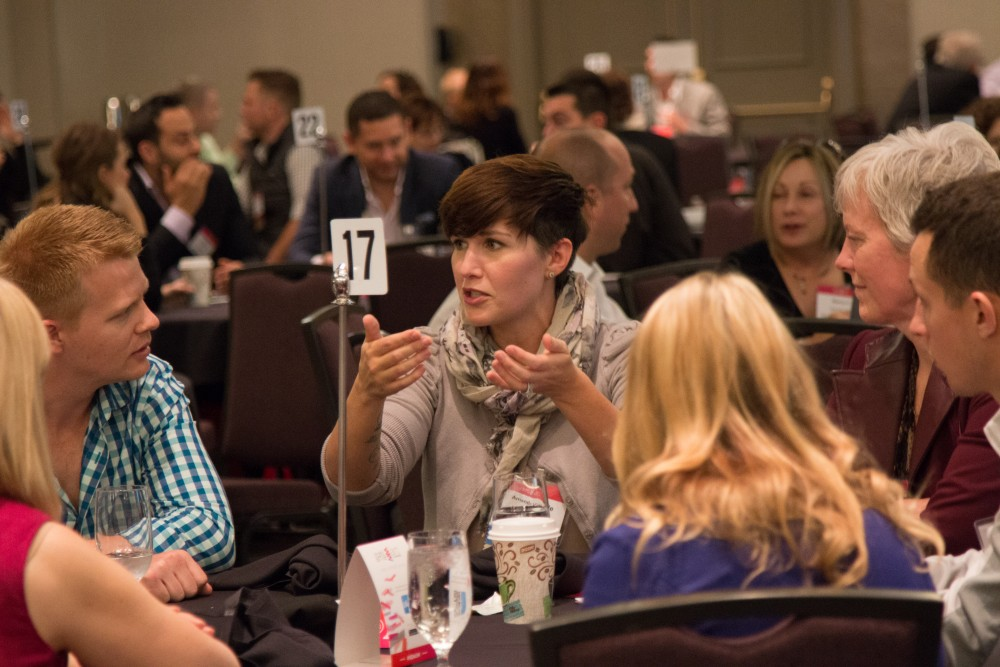 Round table discussions during the Art of Marketing Conference