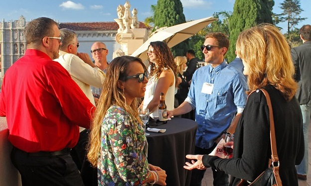 Attendees at San Diego AMA sponsor appreciation event Oct. 5 at The Prado in Balboa Park