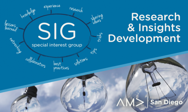 Research and Insight Development SIG Presented by James White (CSO Freshform)