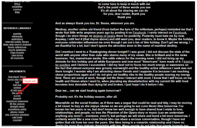 Spammy website example